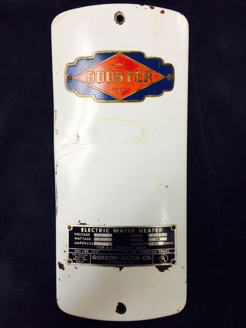 A Cover From A Booster Water Heater Installed In 1951 Water Heater Electric Water Heater Heater