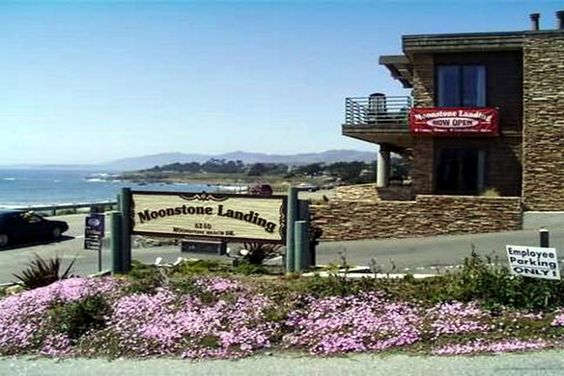 Moonstone Landing Hotel in Cambria, CA.  It's right on Moonstone Beach.