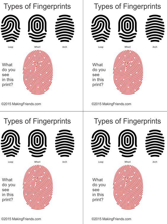 Four girls finger print