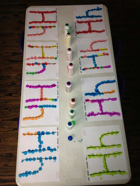 Letter recognition and art activity for pre schoolers using bingo dot