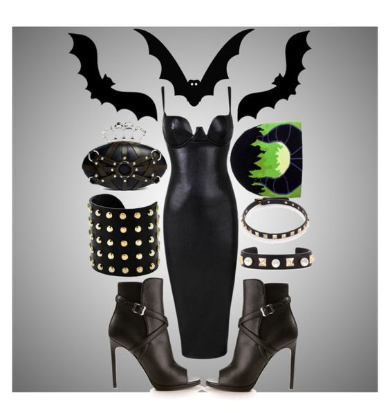 """""""Cake x DB: The Wicked Ones"""" by maria-charp ❤ liked on Polyvore featuring Yves Saint Laurent, Alexander McQueen, Valentino, Michael Kors, contestentry and wickeddisneybound"""