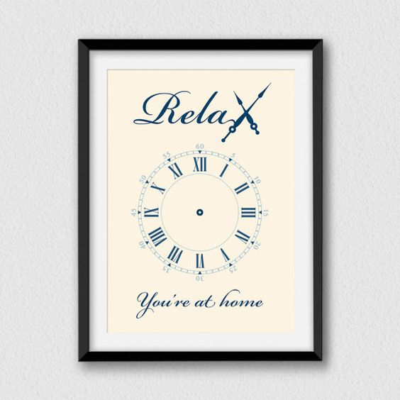 Relax you're at home. Printable and decorative wall by Cartelmania