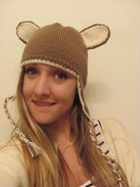 Brown Mouse Ears Hat