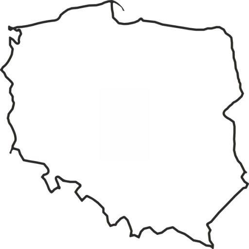 Naklejka Na Sciane Mapa Polski Kontur 70x70cm Stencil Template Teacher Inspiration Hobby L