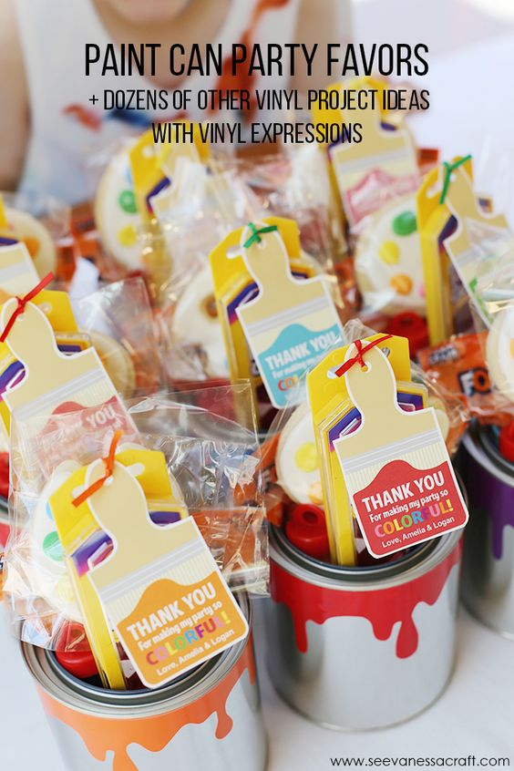 paint cans party favors and favors on pinterest