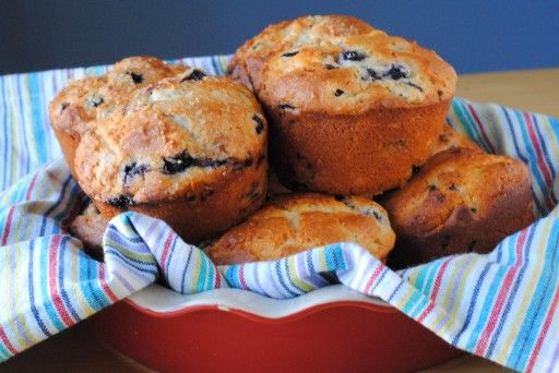 Our Share of the Harvest » Bakery-style Jumbo Blueberry Muffins