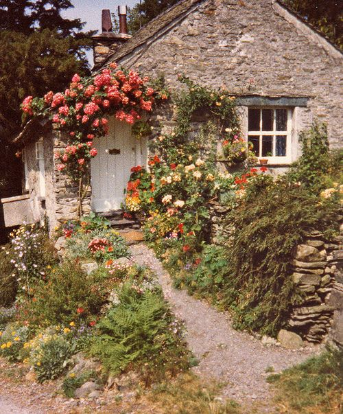 """""""Dream"""" An English cottage right out of a dream. Small, exquisite and base refined.  English faerie garden"""