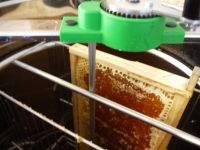 Honigschleuder: Gleich geht´s rund