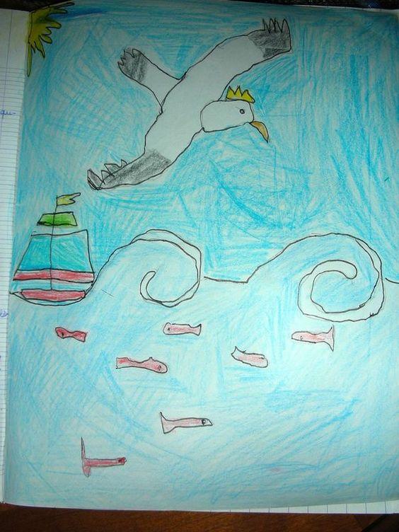 "Illustration: ""L'albatros"" de Charles Baudelaire"