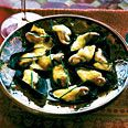 Steamed mussels with lemon-saffron sauce-I'm thinking French for a special Valentine's Dinner :o)