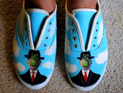 DIY renee magritte shoes
