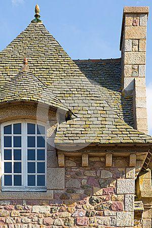 Casa típica de Bretaña del francés