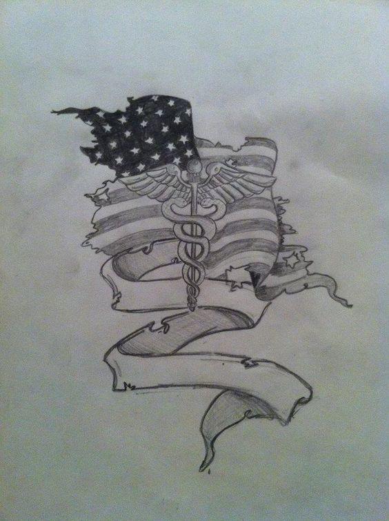 Tattoo design combat medic army custom dalydesigns for Combat medic tattoo