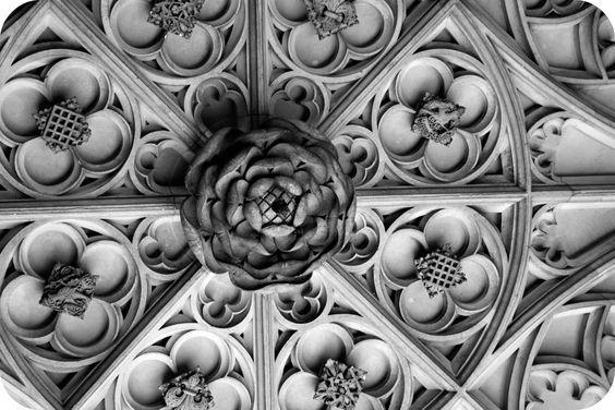 Hampton Court Palace Ceiling. Tudor Rose.