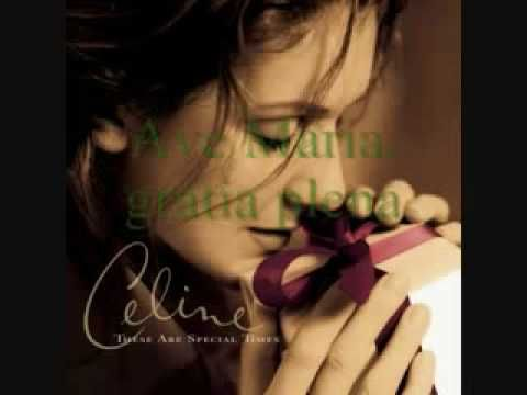 Celine Dion Ave Maria With Lyrics In 2020 Celine Dion Celine Dion Christmas Celine Dion Songs