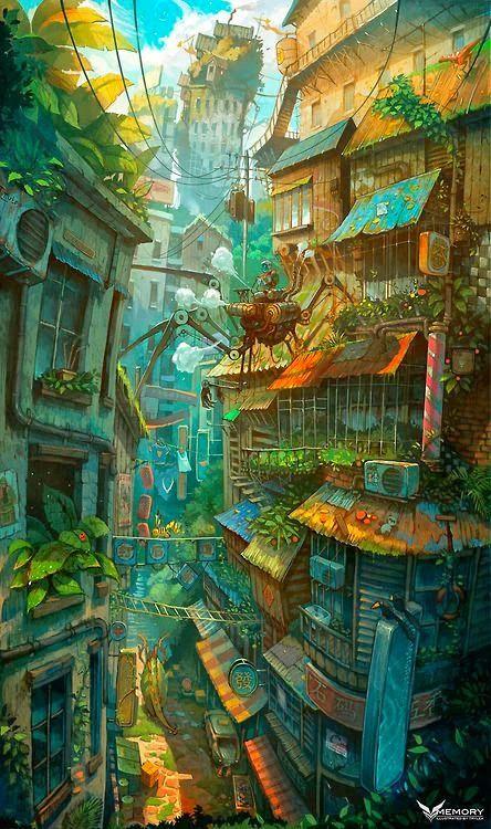 Anime สวยๆ แจ มๆ รวมภาพการ ต นน าร กๆ 02 Live Environment Concept Art Fantastic Art Fantasy Landscape