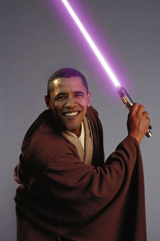 Barack Obama X Mace Windu Android Wallpaper HD