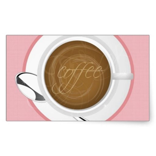 GIRLY COFFEE PINK CAFE HAPPY BEVERAGES GOOD MORNIN STICKER