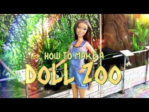 How To Make A Doll Zoo Youtube Doll Stuff Barbie Monster High American Girl Lps