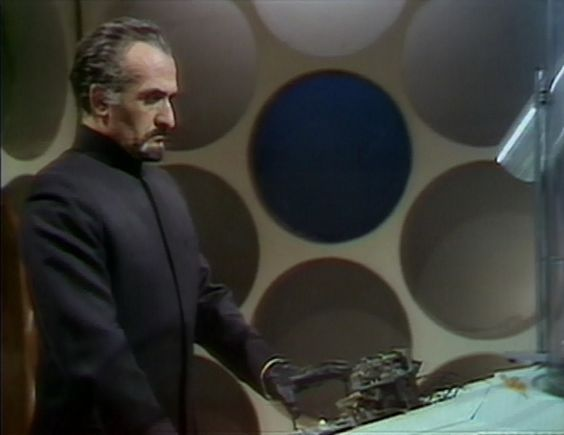 The Master (Roger Delgado) int he Doctor's TARDIS, from 'The Claws Of Axos' (1971)