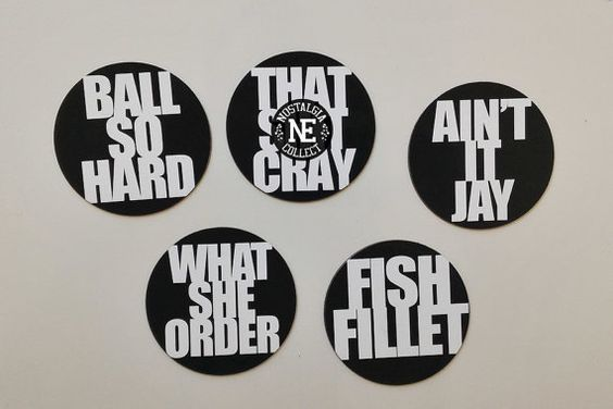 Kanye in Paris 5 Piece Magnets Sets: Ball Hard by NostalgiaCollect