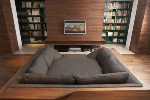 Couch/bed/loungy thing.