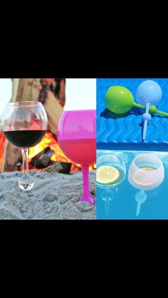 Wine glasses that float