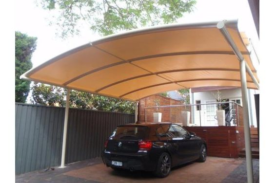 Freestanding Curved Batten Carport Awning Architecture