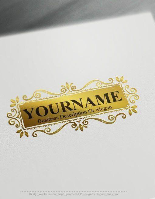 Design Free Logo Online Flowers Vintage Frame Logo Template Frame Logo Vintage Logo Maker Vintage Logo Design