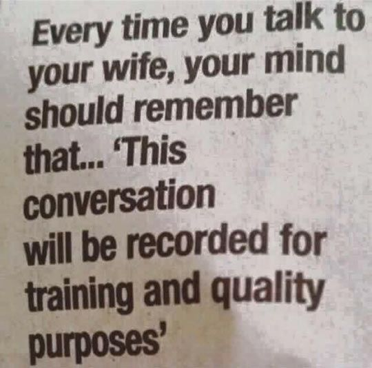 Some Advice For Married People