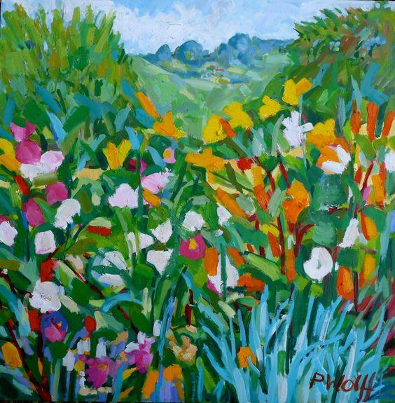 August Border ~ Phyllis Wolff
