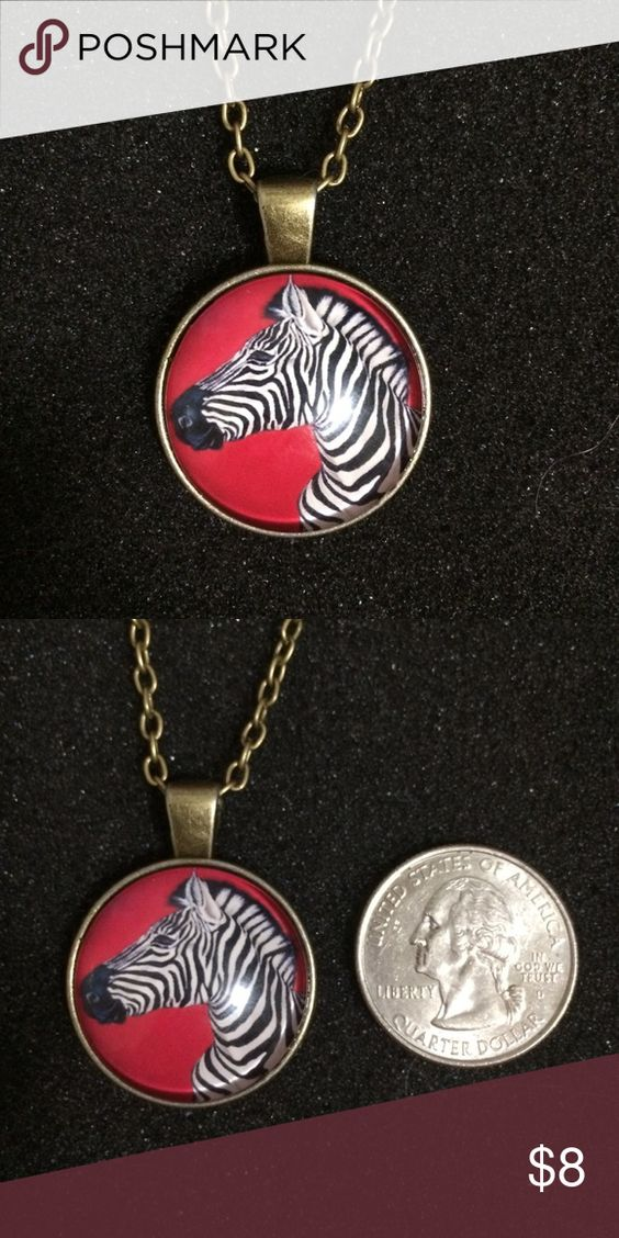 Chic Red Zebra necklace All $8 jewelry is on sale 2 for $10. Leave a comment if you're interested and I'll make a custom listing for you. Jewelry Necklaces