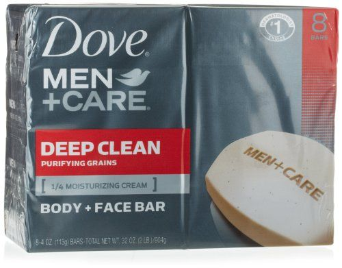 Dove Men + Care Body and Face Bar, Deep Clean, 4 Ounce, 8 Count - http://www.carhits.com/dove-men-care-body-and-face-bar-deep-clean-4-ounce-8-count/ - CarHits