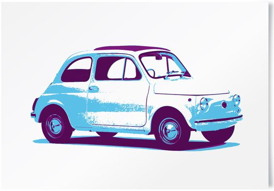 Vintage Fiat 500 limited edition print. #vintage #cars #retro #limited #edition #prints | www.freireprintz.co.uk