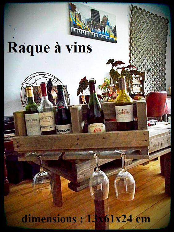raque vin accrocher au mur 6 bouteilles 4 verres avec querres de fixation 55 diy. Black Bedroom Furniture Sets. Home Design Ideas