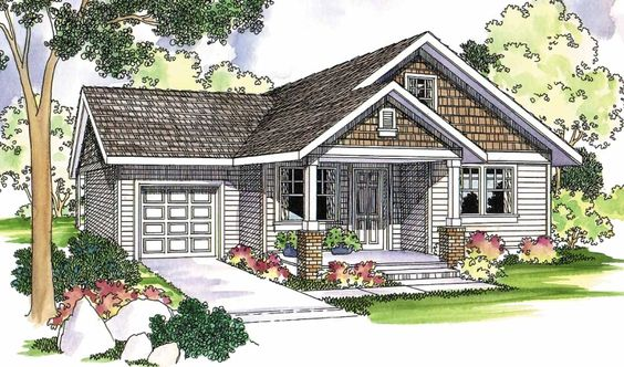 Danville 30-284 - Craftsman detailing adds its perennial charm to this contemporary cottage home plan.