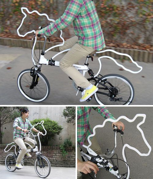 While not a bike, Horsey designed by Eungi Kim, is a horse-shaped accessory designed to attach to your bike. While you might not be able to ride a real horse in the Wild West, perhaps a spin with Horsey will do.