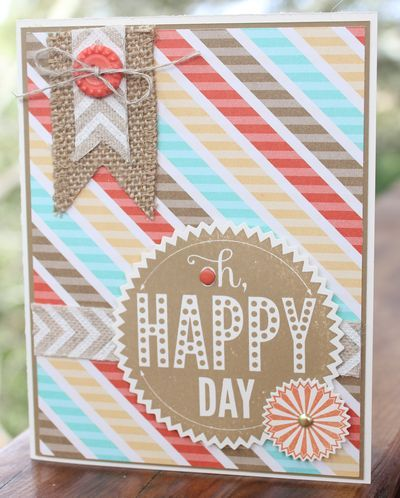 handmade card ... great layout gets lost in the designer paper ... soft and lovely colors from the paper call your attention before the design and sentiment do ... luv all off the parts ... Stampin' Up!