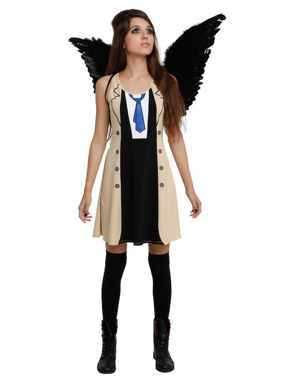This Supernatural Castiel Costume Dress Can Be Accessorized With Wings #SPN #supernatural