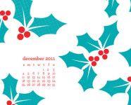 December Desktop, iPhone & iPad Calendar Wallpaper
