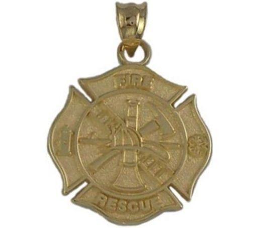 1 Inch Maltese Cross Fire Rescue Charm Firefighter Jewelry