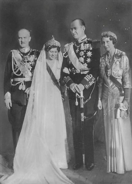 GREECE ~ 1938 ~ Crown Prince Paul of Greece and Princess Frederika of Hanover wed on January 9, 1938