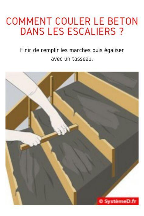 Comment Couler Du Beton Dans Le Coffrage D Un Escalier Escalier