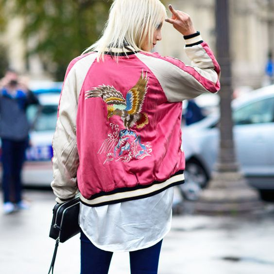 Think of satin bomber jackets as a lightweight, more casual alternative to a…: