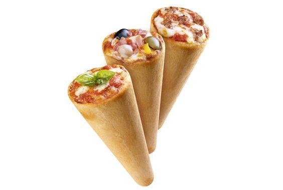 一見アイスクリームの用に見えるこの不思議な物体、じつはピザなんです!2004年4月に本場イタリア・ミラノで誕生した、全く新しいス...