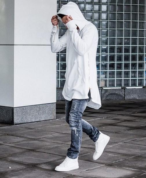 Acheter 2017 Nouveau Zipper Side À Capuchon Kanye Hommes Do