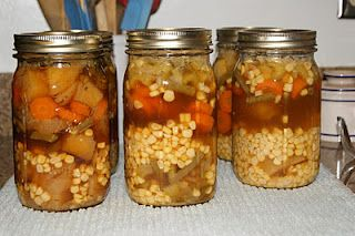 vegetable soup pressure canning recipe