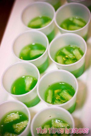 Pineapple Mojito jello shots