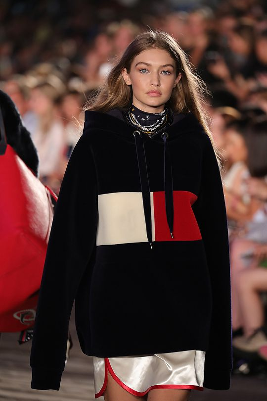 Gigi Hadid on the runway for the TOMMY X GIGI Fashion Show Launch in New York City, New York 9.9.16 during NYFW