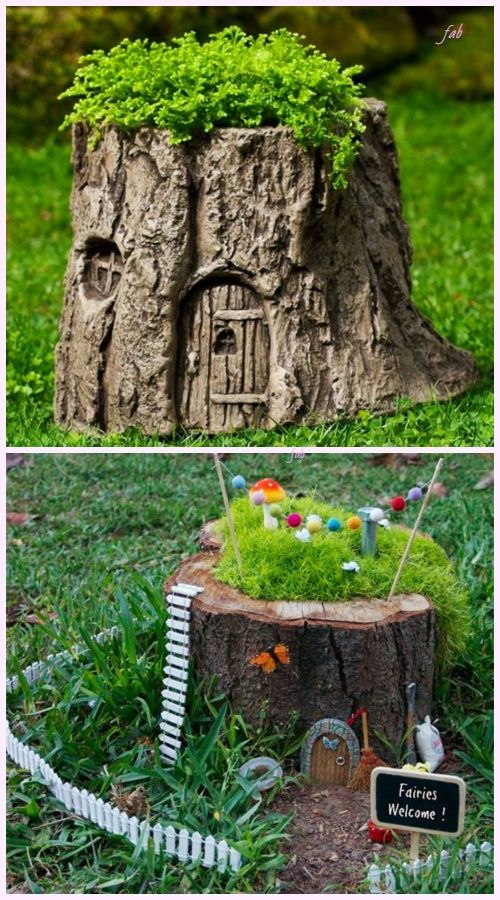 Diy Tree Stump Planters Tutorial Video Included Tree Stump